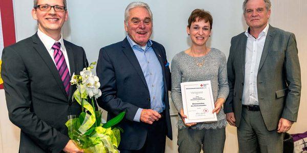 Gratulanten mit Claudia Gärtner
